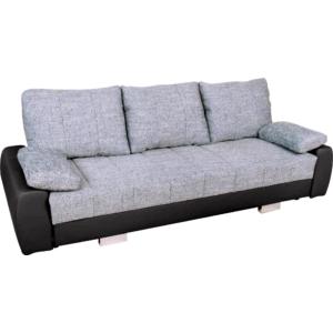 Stetin karfás ágyazható kanapé - szürke/fekete