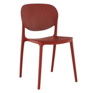 TEMP-Fedra rakásolható szék, piros