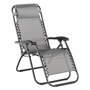 TEMP-Gerald állítható kerti szék, világosszürke