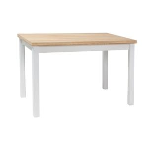 BAL-Adam étkező asztal 120x68 wotan tölgy/ matt fehér