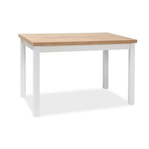 BAL-Adam asztal lancelot tölgy MDF/matt fehér láb 120x68