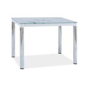 BAL-Damar II étkezőasztal fehér/króm