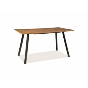 BAL-Mano étkező asztal tölgy/ fekete láb 140X80