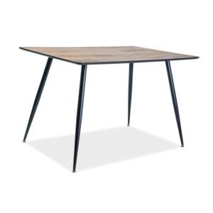 BAL-Remus asztal 120X80 dió MDF/fekete fém láb