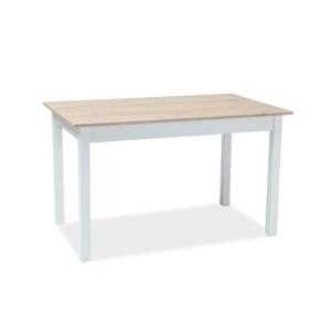 BAL-Horacy asztal 125-170x75 tölgy mdf/fehér láb