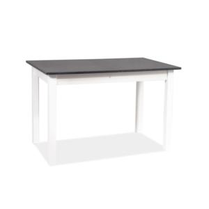 BAL-Horacy asztal antracit / matt fehér 100(140)x60