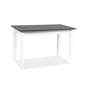 BAL-Horacy asztal antracit / matt fehér 125(170)x75