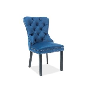 August Velvet étkező szék fekete láb/ kék bársony (Bluvel 86)