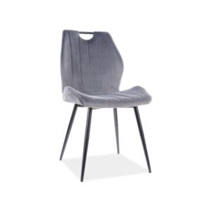 Arco Velvet étkező szék fekete láb/ szürke bluvel 14