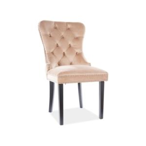 August Velvet étkező szék fekete láb/ bézs bluvel 28
