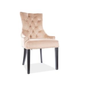 Edward Velvet étkező szék fekete láb/bézs bluvel 28