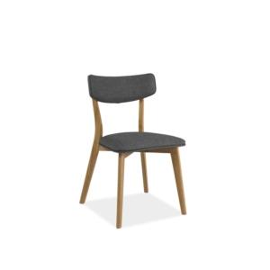 Karl étkező szék tölgyfa/ szürke szövet