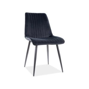 Kim Velvet étkező szék fekete láb/ fekete bluvel 19