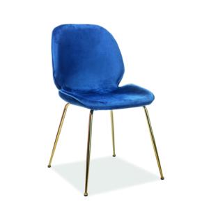 Adrien étkező szék Velvet arany láb/kék Bluvel 86