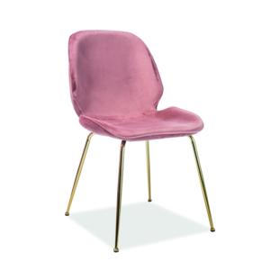 Adrien étkező szék Velvet arany láb/antik rózsaszín Bluvel 52