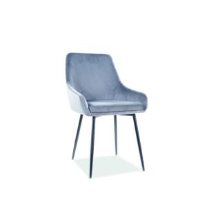 Albi Velvet étkező szék fekete láb/ szürke tap.72