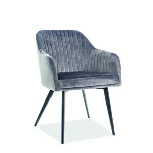 Elina Velvet étkező szék fekete láb/ szürke TAP. 72