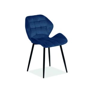 Hals Velvet étkező szék fekete láb/ kék bluvel 86