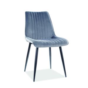 Kim Velvet étkező szék fekete láb/ szürke bluvel 14