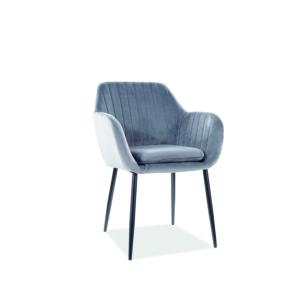 Wenus Velvet étkező szék fekete láb/ szürke bluvel 14