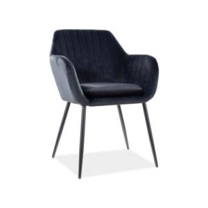 Wenus Velvet étkező szék fekete láb/ fekete bluvel 19