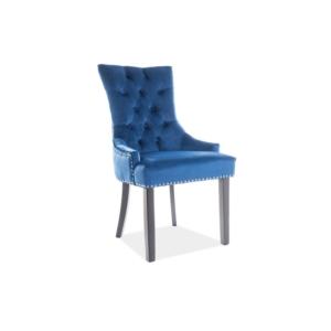 Edward Velvet étkező szék fekete láb/ kék Bluvel86