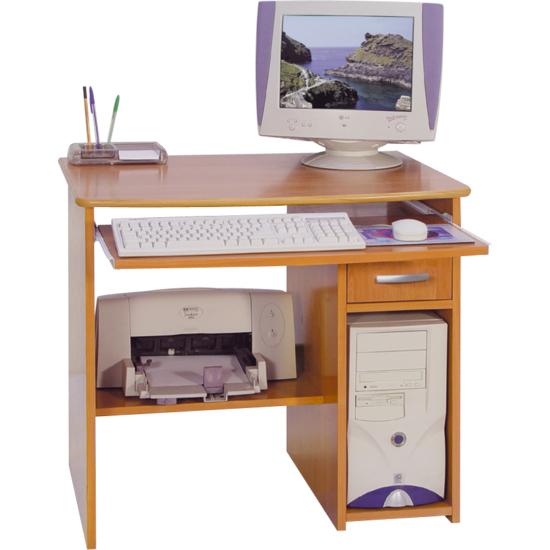 Medium fiókos számítógépasztal