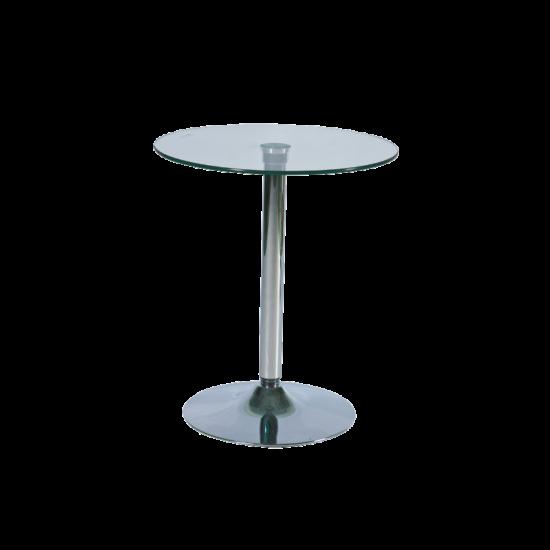 BAL-B-100 bárasztal króm/üveg