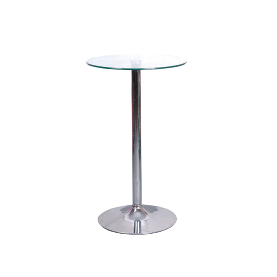 BAL-B-103 bárasztal króm/üveg