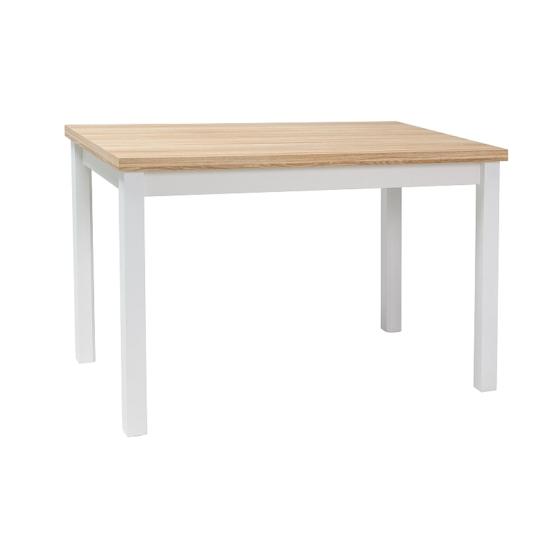 BAL-Adam étkező asztal 100x60 wotan tölgy/ matt fehér
