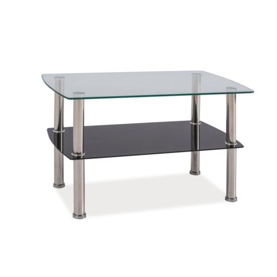 BAL-Irene üveg dohányzó asztal (75*45*45)