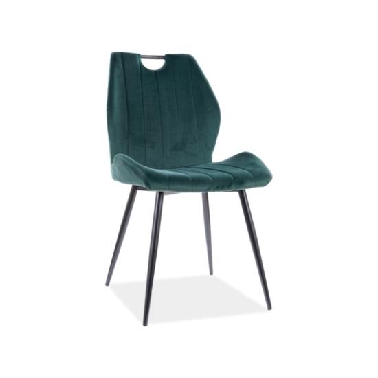 Arco Velvet étkező szék fekete láb/ zöld bluvel 78