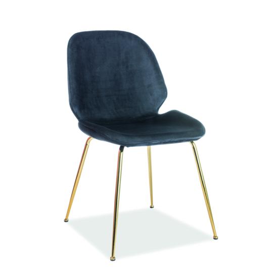 Adrien étkező szék Velvet arany láb/ fekete Bluvel 19