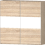 Kép 1/8 - Idill ID-22 tolóajtós gardrób sonoma fényes fehér